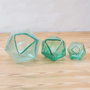 geometric glass vases