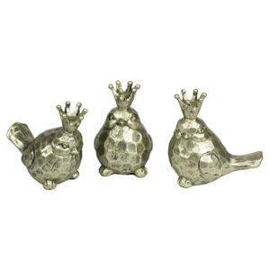 Crowned Bird Figurines