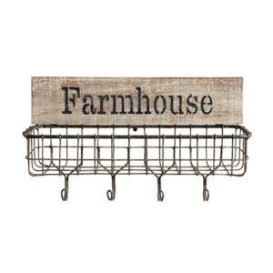 Farmhouse Wood & Wire Basket