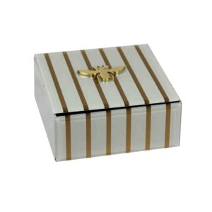 GOLD STRIPED BEE JEWELRY BOX