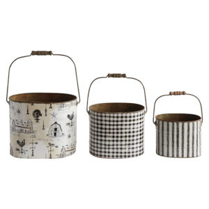 Decorative Metal Buckets