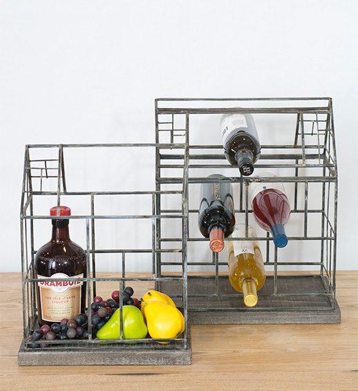 hearth iron wine racks