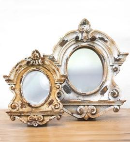 french scroll mirror