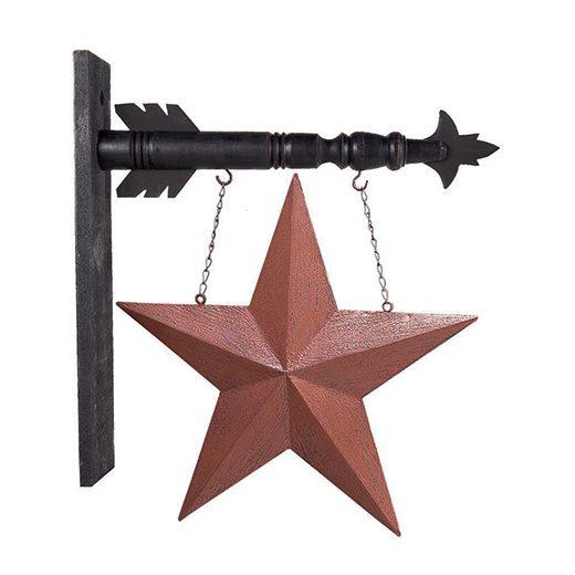 Red Tin Star Arrow Decor Home Design