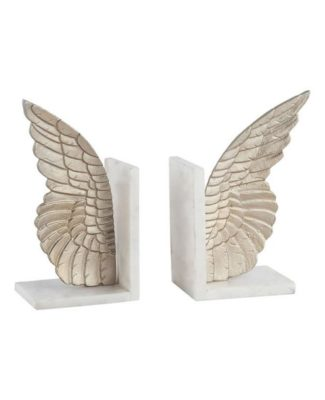 Angel Wing Marble Bookends