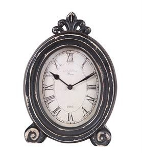 black distressed mantel clock