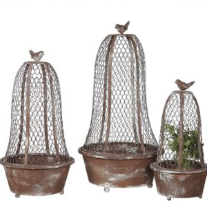 wire planter cloches