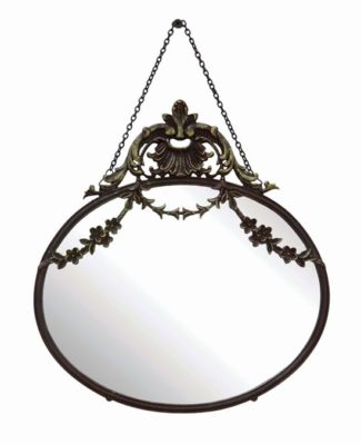 vintage oval mirror with chain