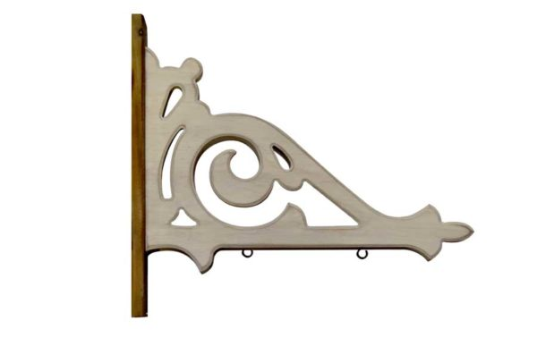 white architectural wood arrow holder