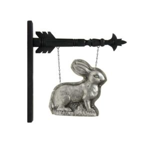 Silver Easter Bunny Hanging Arrow Replacement Sign