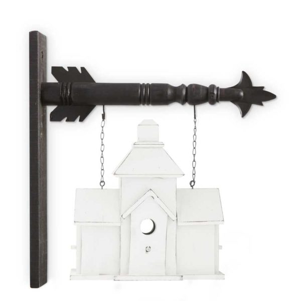 White Church Birdhouse Arrow Replacement Sign