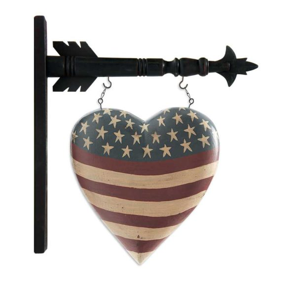 Americana Patriot Heart Arrow Replacement Sign