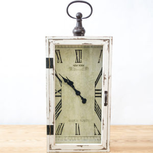 rectangular distressed clock