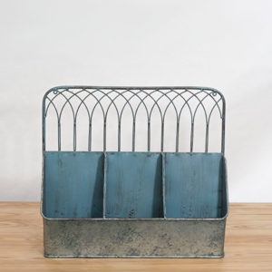 galvanized tin wall organizer