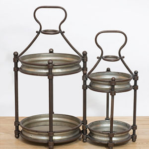 refined tin farmhouse lantern