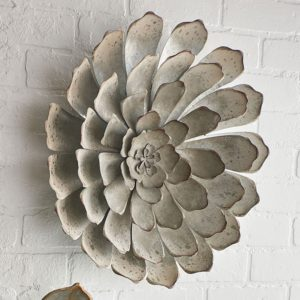 galvanized succulent wall decor