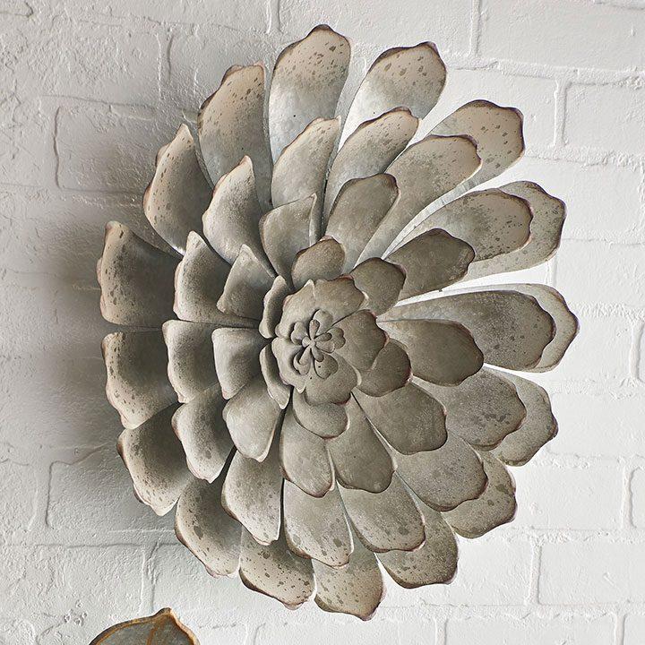 galvanized succulent wall decor
