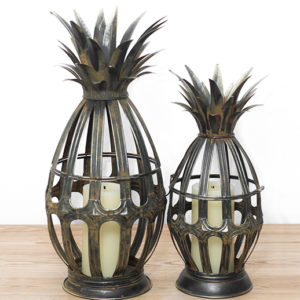 metal pineapple lanterns