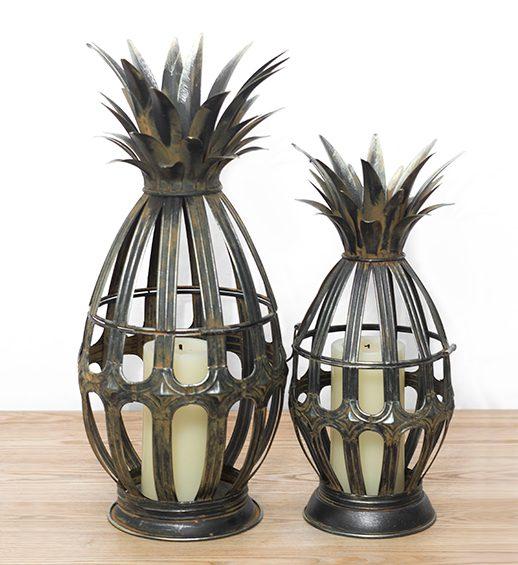 metal pineapple lanterns