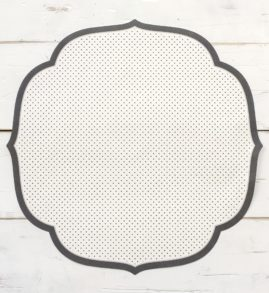 Black Swiss Dot Medallion Paper Placemat