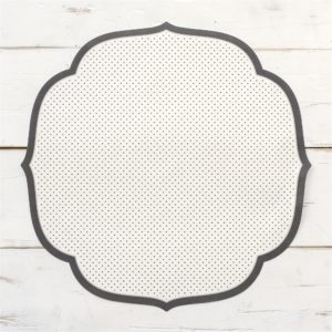 Black Swiss Dot Medallion Paper Placemat