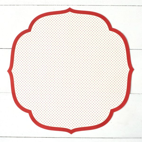 Die Cut Red Swiss Dot Paper Placemat