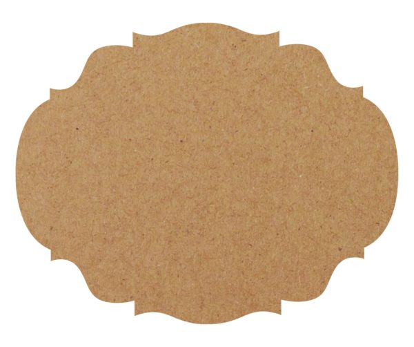 Kraft French Frame Paper Placemat