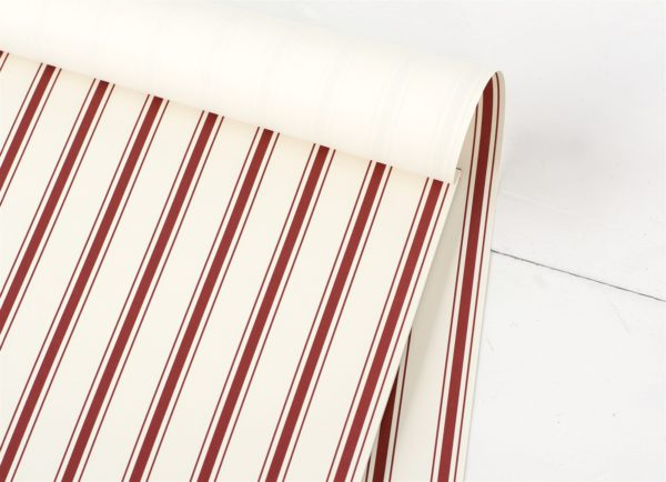 Red Ribbon Stripe Paper Placemat