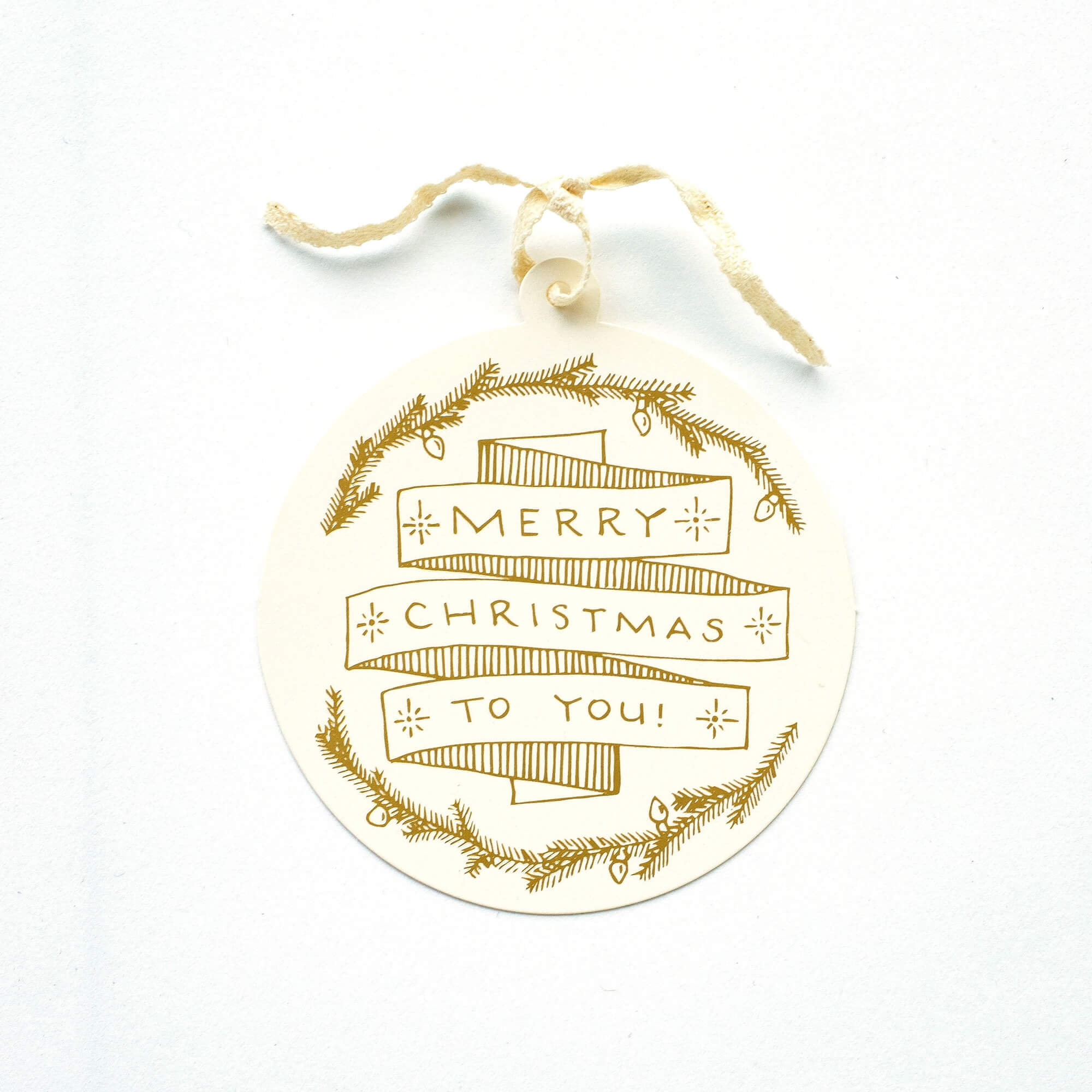 Merry Christmas To You Gift Tag | The Gilded Thistle