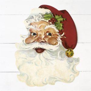 Die Cut Santa Paper Placemat