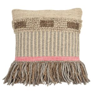 Foreside Hand Woven Cottage Decorative Pillow
